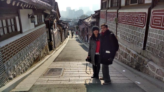 Bukchon Hanok Village in Seoul, S. Korea