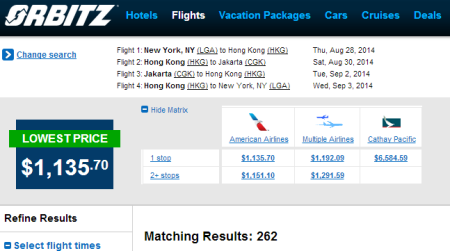 www.orbitz.com   Flight Results