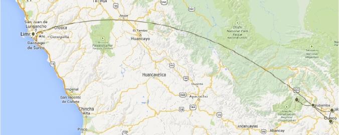 Map of Peru Trip