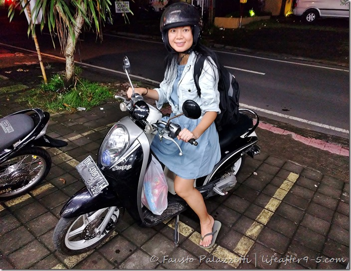 scooter around Bali