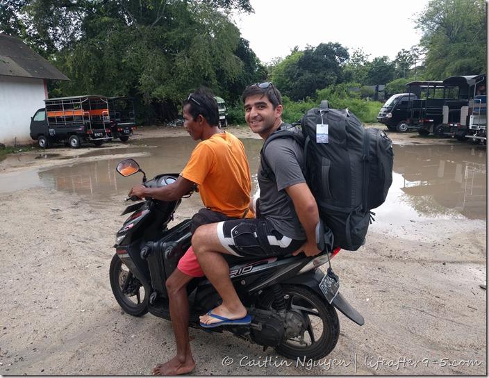 riding ojek in Nusa Lembongan