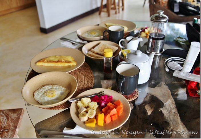 Jungle View Villa Ubud Breakfast