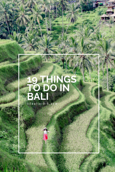 19 Things to do in Bali -Tegalalang Rice Terrace