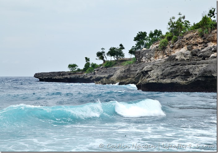 Secret beach in Nusa Ceningan