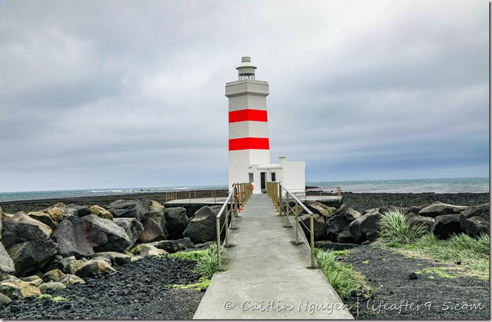 Gardur lighthouse on the southern coast of Iceland