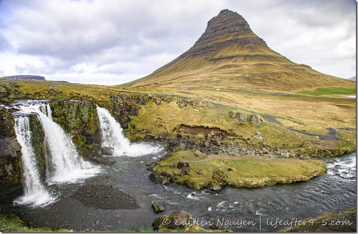 Kirkjufell with waterfall in the foregorund in Snæfellsnes Peninsula