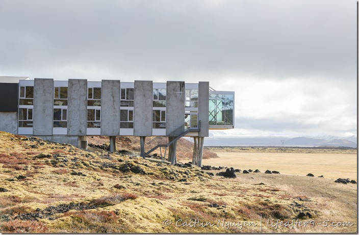 Outside the famous Ion Adventure Hotel in Iceland