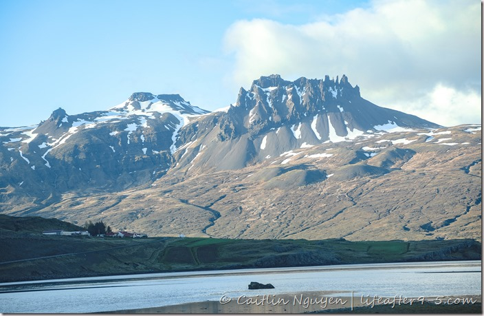 Dramatic mountain ranges in the East fjord in Iceland