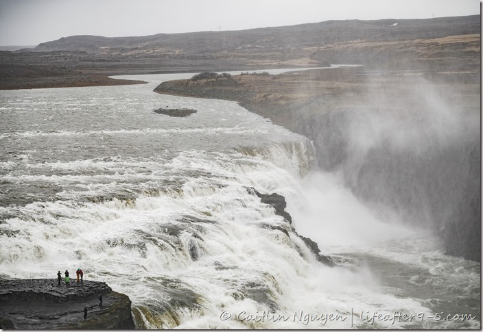 View of the mighty Godafoss from upper viewing area