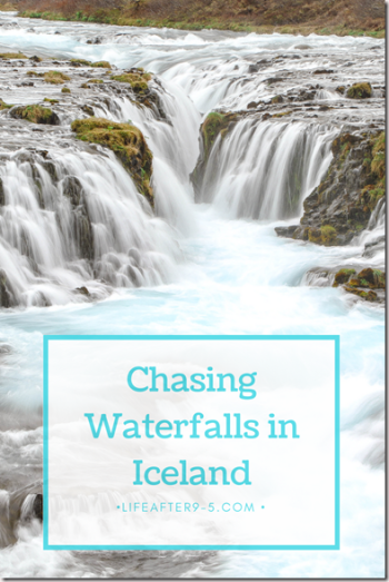 Thousands of icy blue runlets of Brúarfoss
