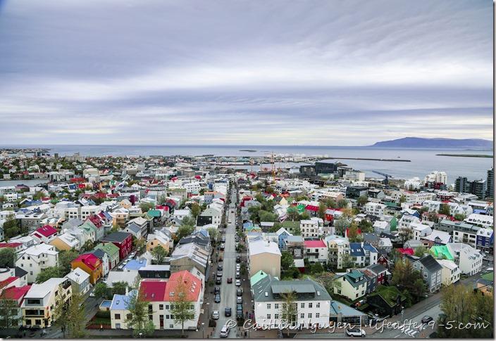 View of Reykjavik from top of Hallgrímskirkja