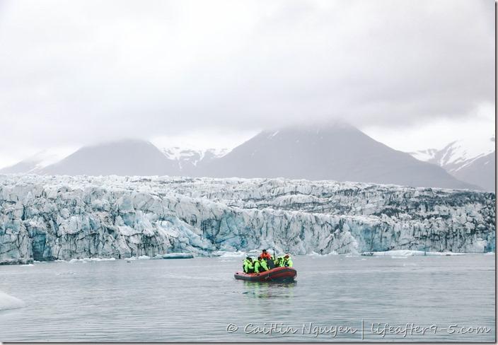 Zodiac boat at Jökulsárlón glacier lagoon