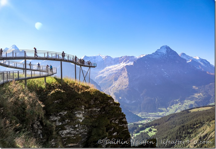 Cliff walk from Grindelwald First