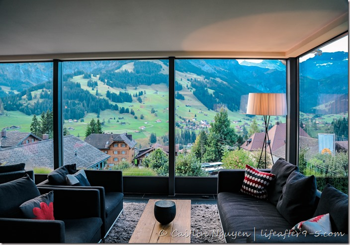 View of Adelboden from Cambrian hotel