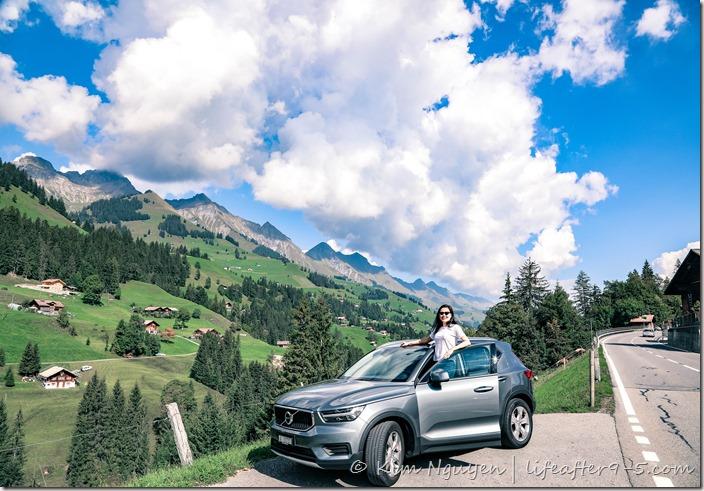 Scenic road trip around Switzerland